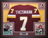 Joe Theismann Autographed 83 MVP and Framed Maroon Redskins Jersey JSA Certified