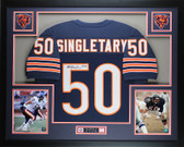 Mike Singletary Autographed and Framed Blue Bears Jersey HOF Auto JSA Certified