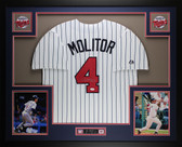 Paul Molitor Autographed and Framed White Twins Jersey Auto JSA Certified