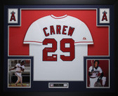 Rod Carew Autographed HOF 91 and Framed White Angels Jersey Auto JSA Certified