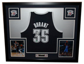 Kevin Durant Autographed and Framed Alt Blue Thunder Adidas Jersey Panini Certified