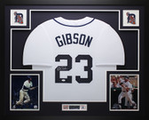 Kirk Gibson Autographed Framed White Detroit Tigers Jersey Auto JSA COA D1-L
