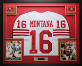 Joe Montana Autographed and Framed White 49ers Jersey JSA COA D10-L