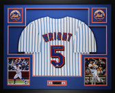 David Wright Autographed and Framed Pinstriped Mets Jersey Auto MLB COA D1-L