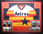 Nolan Ryan Autographed and Framed Rainbow Astros Jersey Auto Tristar COA D6-L