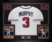 Dale Murphy Autographed NL MVP 82, 83 & Framed White Braves Jersey Auto JSA COA