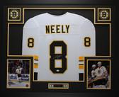 Cam Neely Autographed & Framed White Boston Bruins Jersey JSA COA D1-L