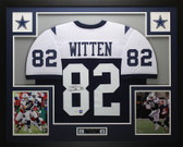 Jason Witten Autographed & Framed Blue Thanksgiving Cowboys Jersey Auto JSA COA
