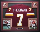 Joe Theismann Autographed 83 NFL MVP & Framed Maroon Redskins Jersey JSA COA D4