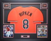 Cal Ripken Autographed & Framed Orange Orioles Jersey Auto JSA COA D6-L
