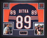 Mike Ditka Autographed and Framed Navy Bears Jersey Auto JSA COA (D2-3)