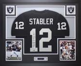"""Ken Stabler Autographed """"SNAKE"""" & Framed Black Raiders Jersey Auto Radtke COA"""