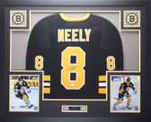 Cam Neely Autographed & Framed Black Boston Bruins Jersey JSA COA D2-L