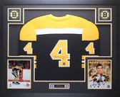 Bobby Orr Autographed & Framed Black Bruins Jersey GNR Certified D8-L