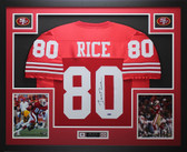 Jerry Rice Autographed and Framed Red 49ers Jersey Auto TristarCOA D9-L