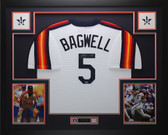Jeff Bagwell Autographed and Framed Rainbow Throwback Jersey Tristar COA D2-L