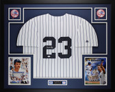Don Mattingly Autographede and Framed White P/S Yankees Jersey Auto JSA COA D5-L