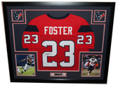 Arian Foster Autographed and Framed Red Texans Jersey Auto JSA COA (D2-L)