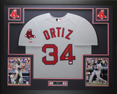 David Ortiz Autographed and Framed Gray Red Sox Jersey Auto Fanatics COA D2-L
