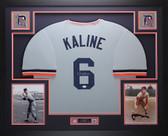 Al Kaline Autographed & Framed Gray Tigers Jersey Auto JSA COA D2-L