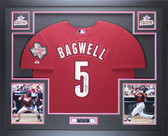 Jeff Bagwell Autographed and Framed Brick Red Astros Jersey Tristar COA D3-L