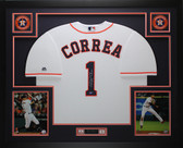 Carlos Correa Autographed and Framed White Astros Jersey Auto Tristar COA D1-L