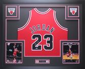 Michael Jordan Autographed & Framed Red Bulls Jersey Auto Upper Deck COA D14