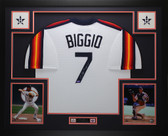 Craig Biggio Autographed HOF 15 & Framed Rainbow Astros Jersey Auto Tristar