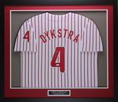 Lenny Dykstra Autographed & Framed Pinstriped Phillies Jersey JSA COA D1-M