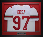 Joey Bosa Autographed & Framed White Ohio State Jersey JSA COA D1-M