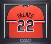 Jim Palmer Autographed & Framed Orange Orioles Jersey Auto JSA COA D2-M