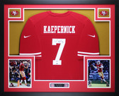 Colin Kaepernick Autographed and Framed Red Nike 49ers Jersey Auto PSA Certified