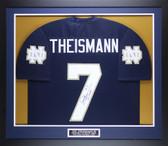 Joe Theismann Autographed & Framed Navy Notre Dame Jersey Auto JSA COA D5-M