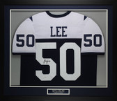 Sean Lee Autographed & Framed Thanksgiving Day Cowboys Jersey JSA COA D1-M