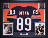 Mike Ditka Autographed and Framed Blue Bears Jersey Auto PSA COA (D1-L)
