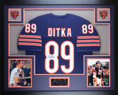 Mike Ditka Autographed and Framed Navy Bears Jersey Auto PSA COA (D1-3)