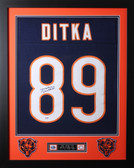 Mike Ditka Framed and Autographed Navy Bears Jersey Auto PSA COA D1-S