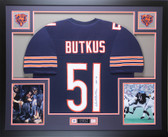 Dick Butkus Autographed HOF 79 and Framed Navy Bears Jersey Auto JSA COA (D3-L)
