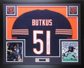 Dick Butkus Autographed HOF 79 and Framed Navy Bears Jersey Auto JSA COA (D4-L)