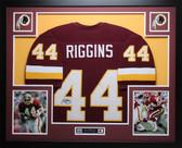 John Riggins Autographed and Framed Maroon Redskins Jersey Auto JSA COA (D2-L)