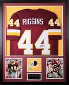 John Riggins Autographed and Framed Maroon Redskins Jersey JSA COA (D1-V)