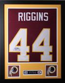 John Riggins Framed and Autographed Maroon Redskins Jersey JSA COA D1-S