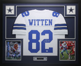 Jason Witten Autographed and Framed White Cowboys Jersey Auto JSA COA (D1-L)