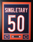 Mike Singletary Framed and Autographed HOF 98 Navy Bears Jersey JSA COA D2-S