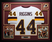 John Riggins Autographed HOF 92 and  Framed White Redskins Jersey JSA COA (D4-L)