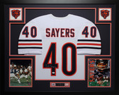 Gale Sayers Autographed and Framed White Bears Jersey Auto JSA Certified