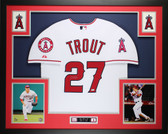 Mike Trout Autographed and Framed White Angels Jersey Auto MLB COA (D14-L)