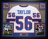 Lawrence Taylor Autographed and Framed White Jersey Auto JSA COA (D6-L)