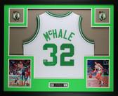 Kevin McHale Autographed and Framed White Celtics Jersey Auto Mount Memories COA (D2-L)