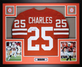 Jamaal Charles Autographed and Framed Orange UT Longhorns Jersey Auto GTSM Certified